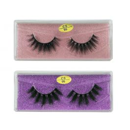 3D Faux Mink lashes Reusable Handmade Natural Lashes False Eyelashes (2 Pairs/Packs)-06