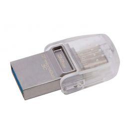 Kingston 32GB DataTraveler MicroDuo 3C USB Flash Drive USB Type-C and USB Type-A Flash Drive