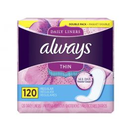 Always Thin Daily Liners 120 x 2 Pack