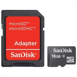 SanDisk MicroSD 16GB With SD Adapter