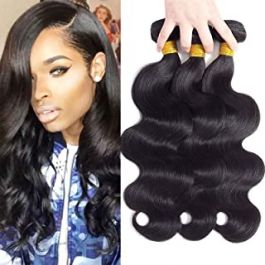 Brazilian Body Wave Human Hair 3 Bundles Mix Length 12 14 16 inch Virgin Hair Bundles 9A 100% Unprocessed Real Human Hair Bundles Of Brazilian Hair Weave Wefts Natural Black Color Remy Hair