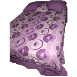 Aleos 5 Piece King Size Printed Purple Sheet Set