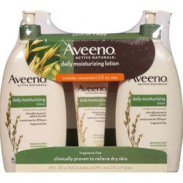 Aveeno Active Naturals Lotion 18 oz + 2.5 oz x2 Count