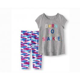 """Born To Sparkle"" Shirt & Tights Set"