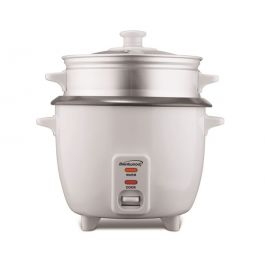 Brentwood TS-600S 5 Cup Uncooked or 10 Cup Cooked Rice Cooker and Food Steamer