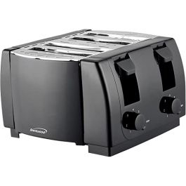 Brentwood TS-285 4 Slice Toaster S/S And Black