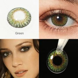 Colored Cosplay Contacts 1 Pair Contact Lenses Green Yellow Lenses For Eyes Beauty