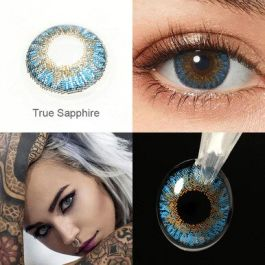 Colored Cosplay Contacts 1 Pair Contact Lenses True Sapphire Lenses For Eyes Beauty