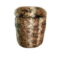 Multi Functional Faux Fur Ottoman With Storage