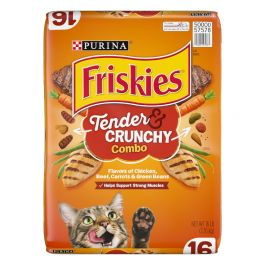 Purina Friskies Tender & Crunchy Combo Dry Cat Food 16 Lbs