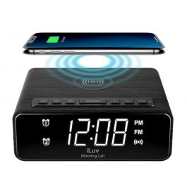 iLuve Morning Call 4Q Wireless Charging Alarm Clock FM Radio