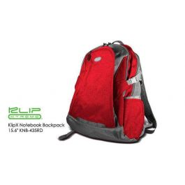 """KlipX Notebook Backpack 15.6"""" KNB-435RD Red"""