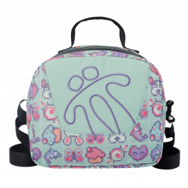 Totto Girl's Lunch Bag Cupcake & Hearts Print