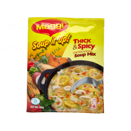 MAGGI Soup it Up! Thick & Spicy Chicken Noodle Soup Mix 60g Sachet