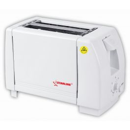 Starline TS - 2001 Compact White 2 Slice Adjustable Setting 750W Toaster