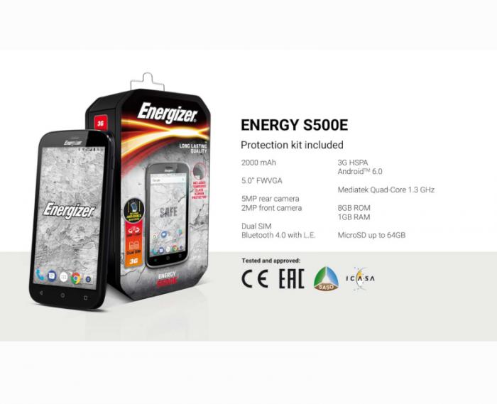 Energizer S500E Duos Unlocked Smartphone 8GB ROM 1GB RAM