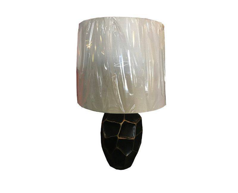 Brass Antique Transitional Hammered Metal Table Lamp