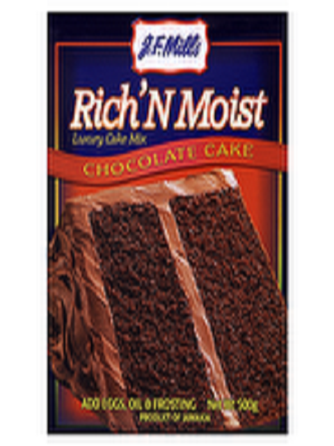 J.F.Mills Chocolate Cake Mix 500g