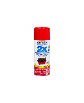 2X Ultra Cover Satin Spray Paint 12 oz. Apple Red (3 Pack)