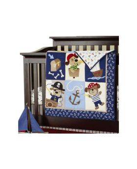 7 Piece Pirate Print Crib Set