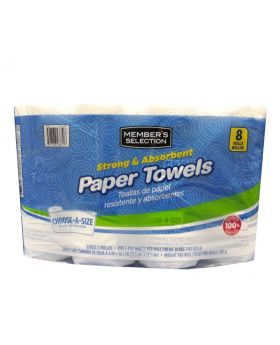Member's Selection Strong & Absorbent Paper Towels 200 Sheets 8 Pack