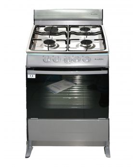 Blackpoint 21 Inch 4 burner Silver Steel Gas Stove luxury with heavy grill