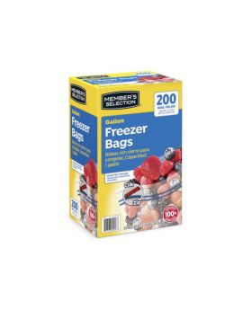 Member's Selection Gallon Freezer Bags 200 Pack