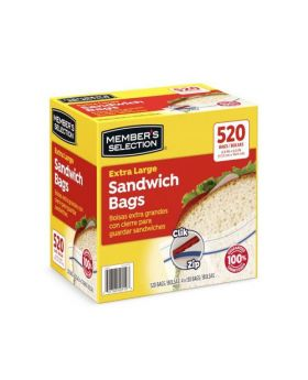 Member's Selection Extra Large Sandwich Bags 520 Pack