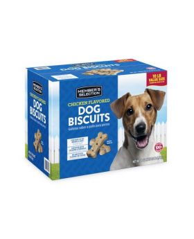 Member's Selection Chicken Flavored Dog Biscuits 10 lbs Value Size