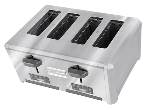 Top view of the Frigidaire Four Slice Toaster
