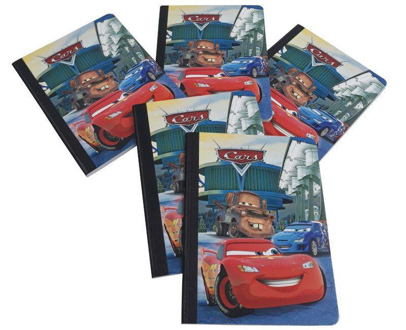 Cars 5 Pack Hardcover Notebooks
