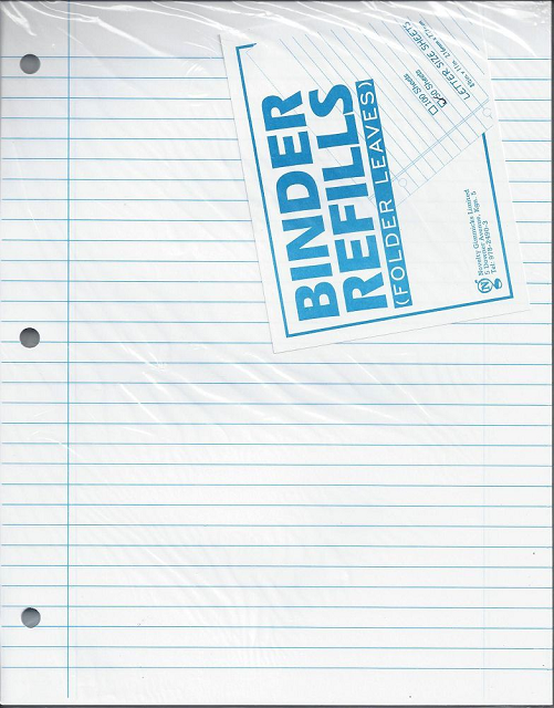 50 Sheet Binder/Filler Paper