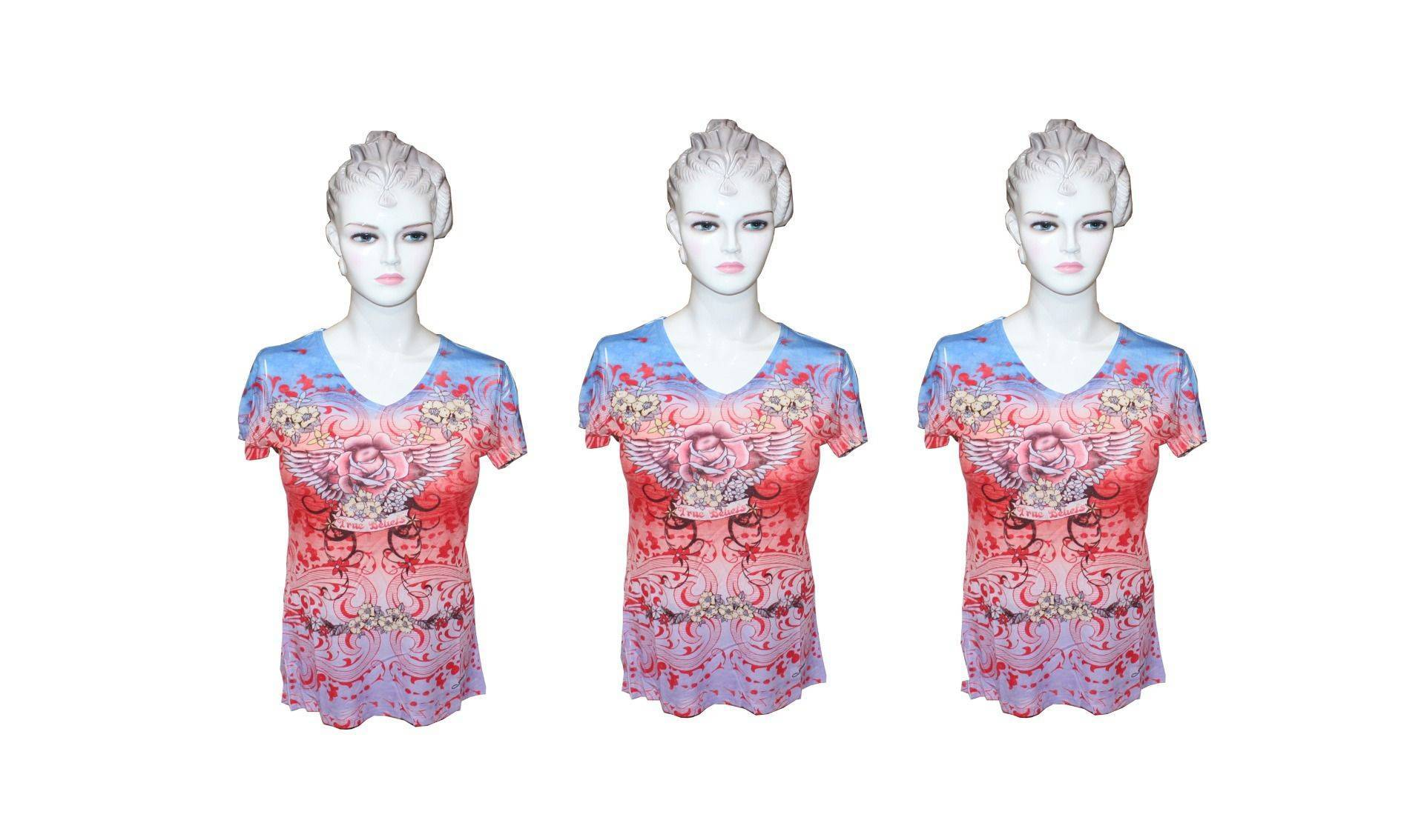 Ladies Red Sublimation top