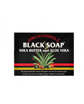 African Formula Black Soap - Shea Butter & Aloe Vera Soap (3.5oz)