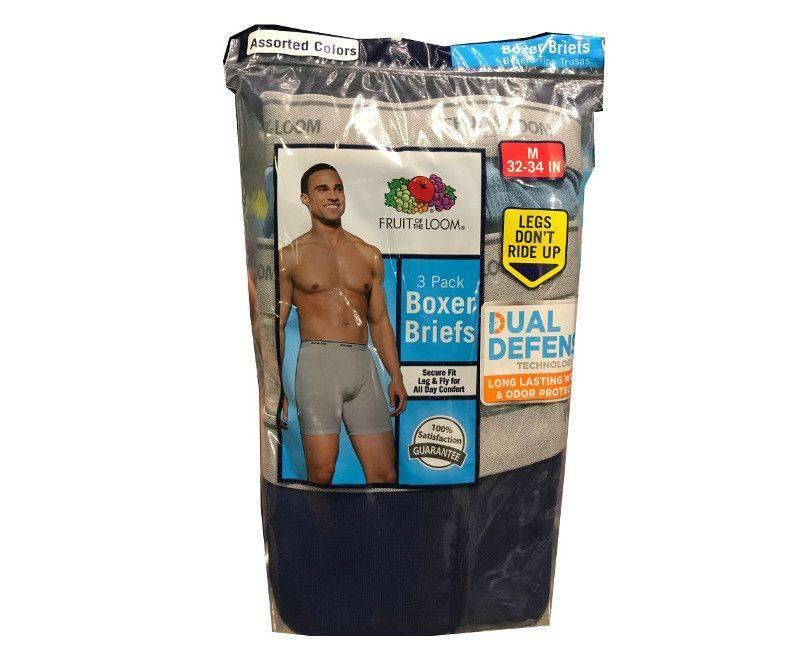 Fruit of the loom dual defense medium 3 pack boxer briefs