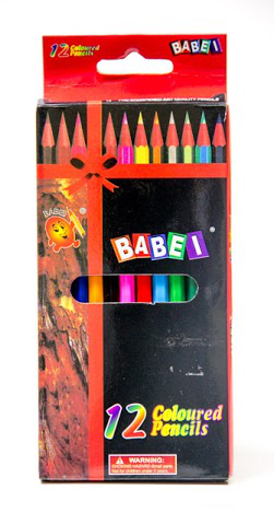 Babei 12 Pack Pencil Crayons
