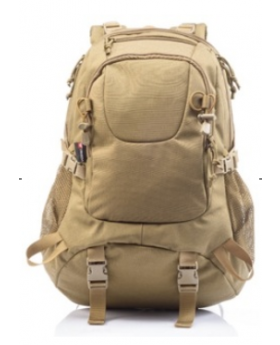 Yakeda Backpack 1000D polyester with PU coating BLACK/TAN