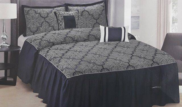 Private Collection 5 Pieces Luxury Jacquard Bedspread Set- Barrett