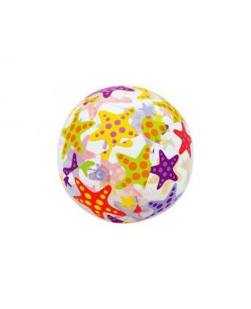 Beach Ball with bold starfish print and colors