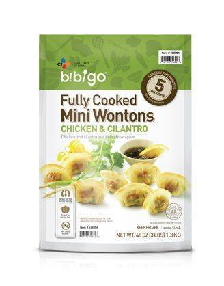 Bibigo Chicken & Cilantro Mini Wontons, 3lbs