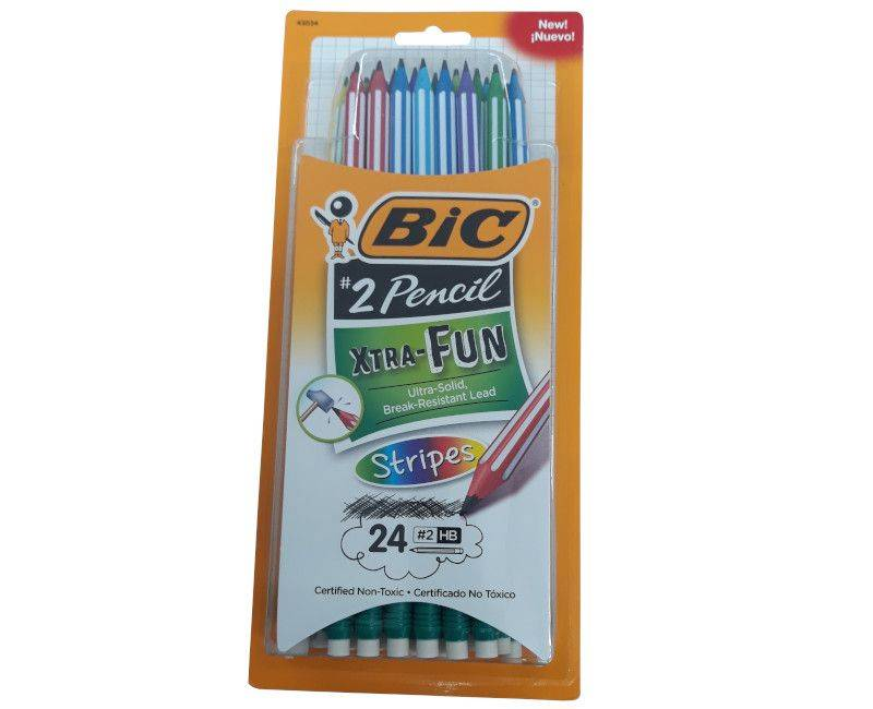 Bic 24 Extra Fun #2 Pencils