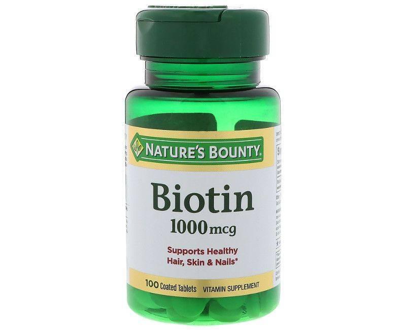 Nature's Bounty Biotin 1000mcg - Healthy Hair, Skin and Nails - 100 Tablets