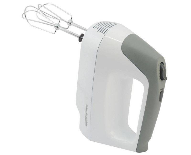 Black & Decker White 5 Speed Hand Mixer