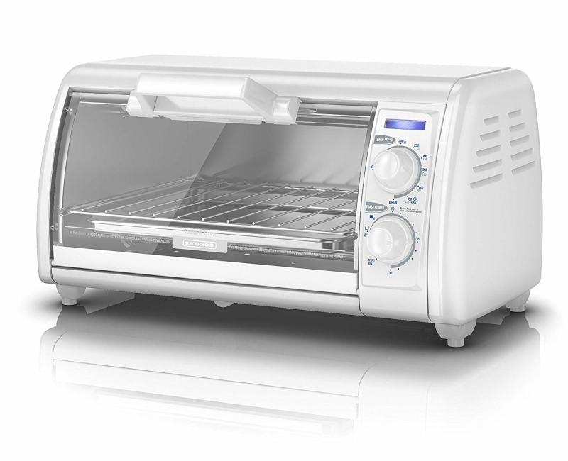 Black & Decker 4 Slice Toaster Oven, White