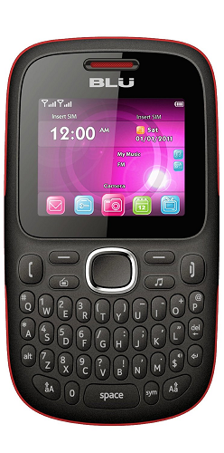 Blu Samba TV Cellphone (Red & Black)