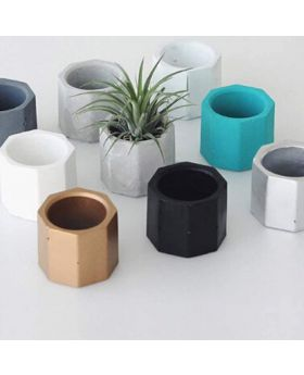 Shana's 2 Inch Modern Cement Mini Flower Pots/Candle Holders Pack of 3
