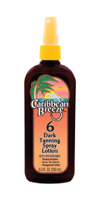 Caribbean Breeze SPF 6 Dark Tanning Spray Lotion