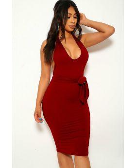 Stretchy Jersey Dress  (Size M )