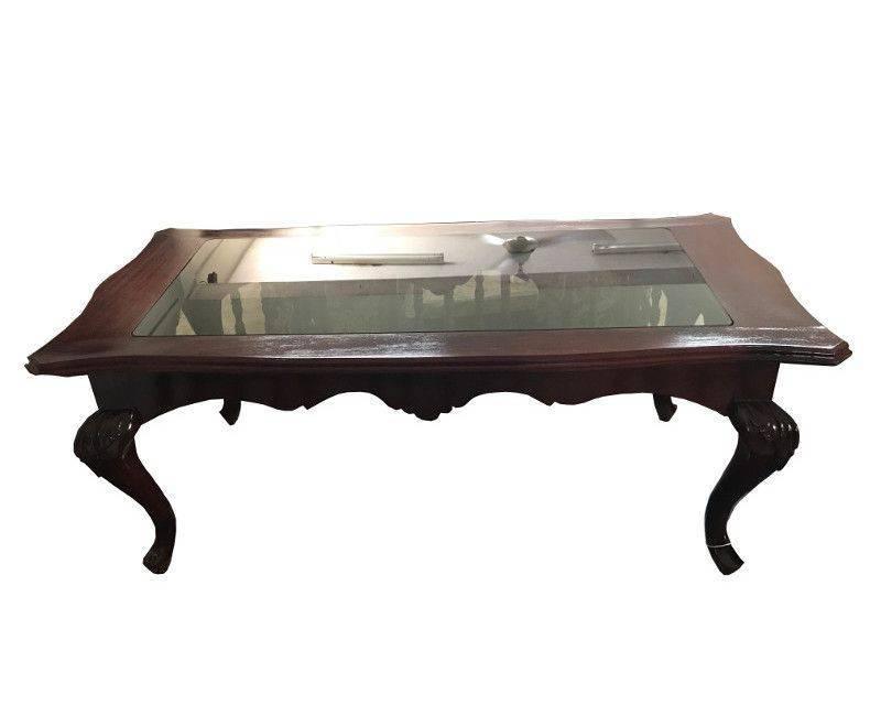 Cedar Glass Top Coffee Table