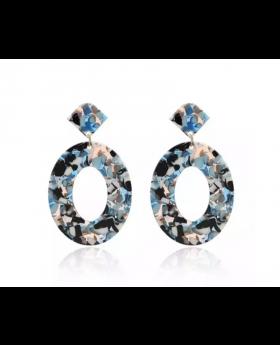 Circular Acrylic Drop Earrings